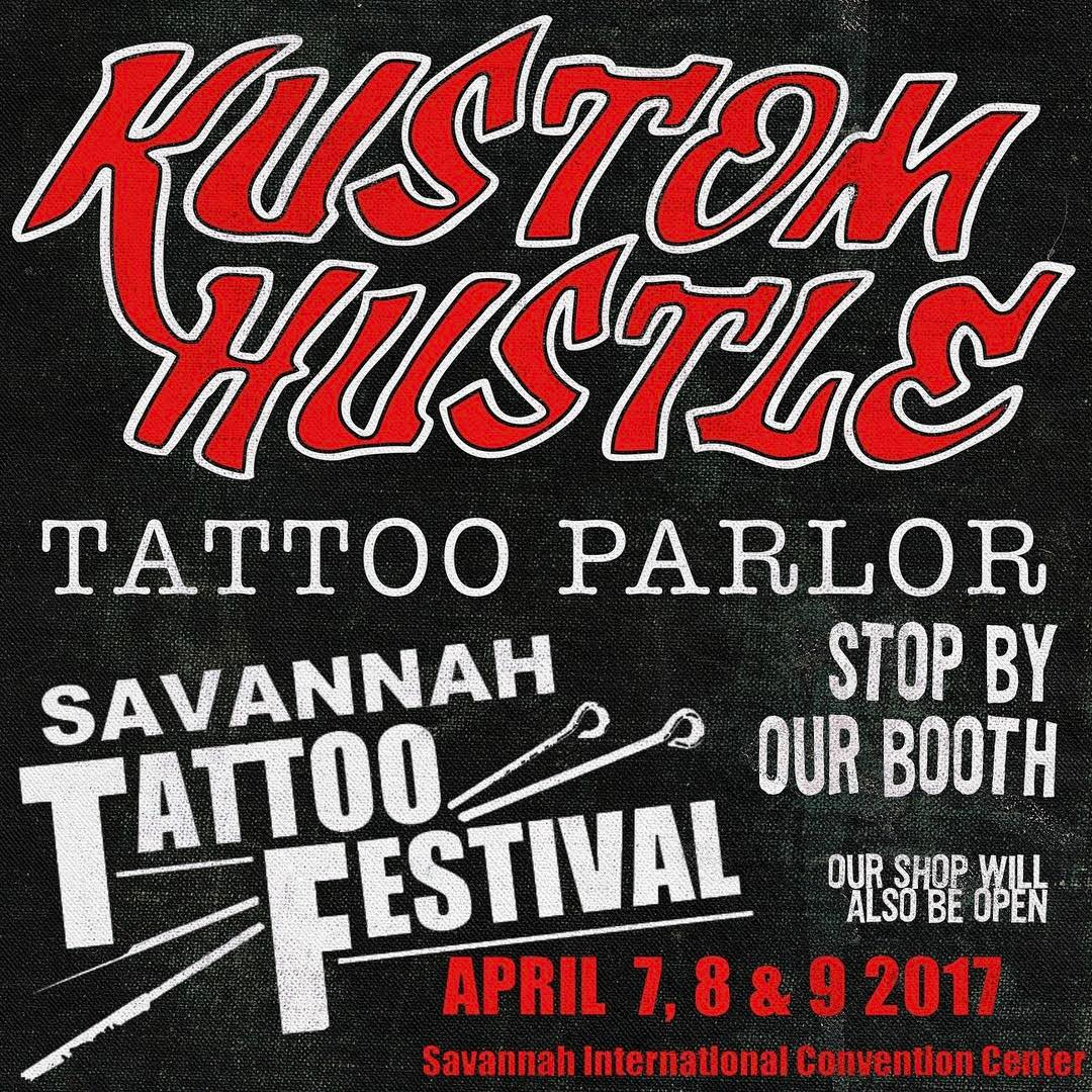 Ash Cox and Anthony Ojeda will be tattooing at the Savannah Tattoo Festival this year. Come say hello!