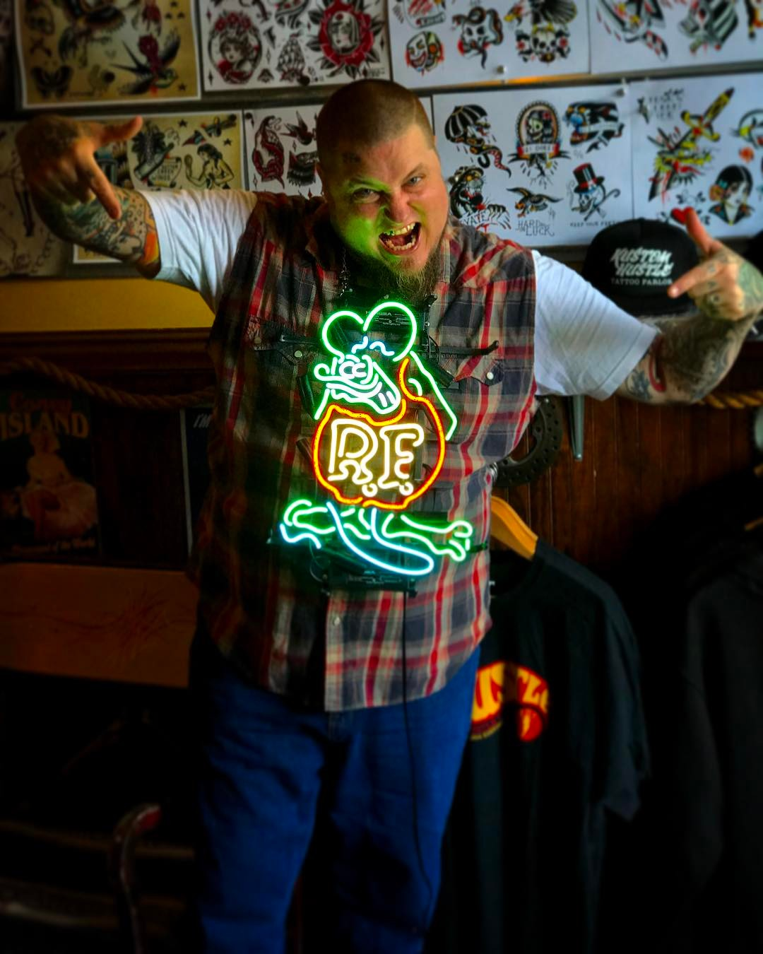 It's Marcus's birthday and we got him a neon rat fink.