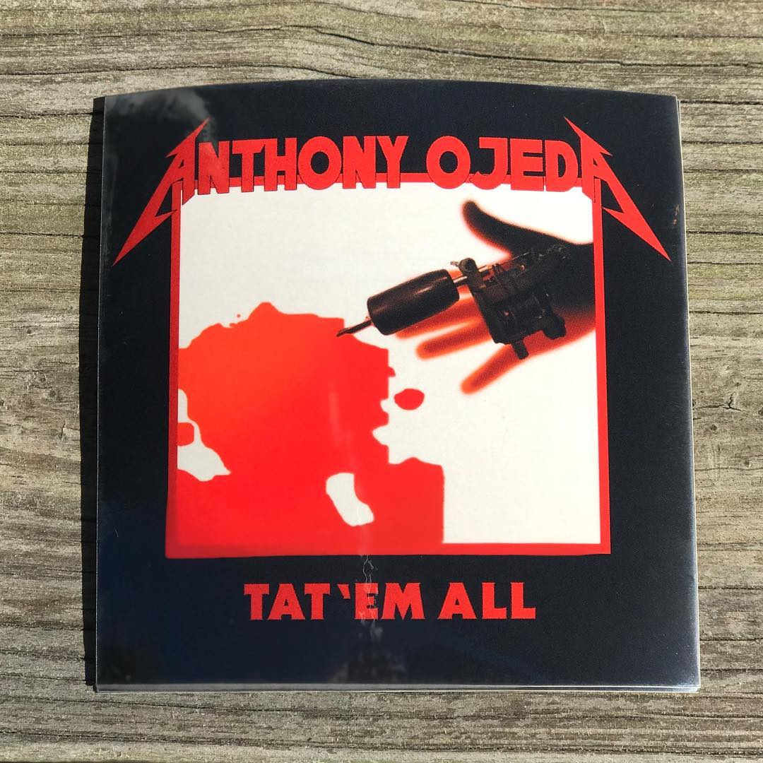 Metal heads rejoice… New Anthony Ojeda stickers are here! Swing by and pick one up. @anthonyelectric