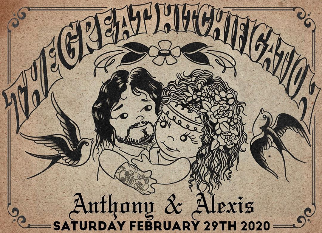We will be closed this Saturday to witness the great hitchification of Anthony Ojeda and his lovely bride Alexis! If you're looking to get tattooed this weekend, we still have openings on Friday and Sunday. Call or come by and let's do this