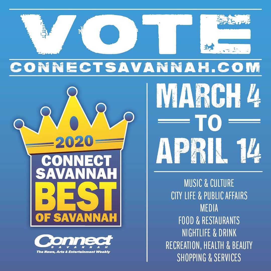 2020 @connectsavannah best of poll is open. Click the link in our bio to vote any time between now and April 14th.