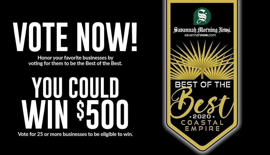 Head on over to @savannahnow and vote us BEST TATTOO! You can vote once a day until April 13th.